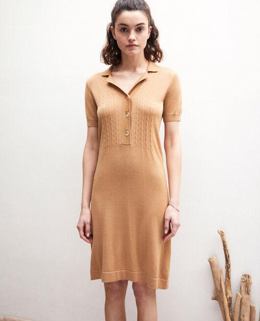 Knit dress CAMEL BEIGE