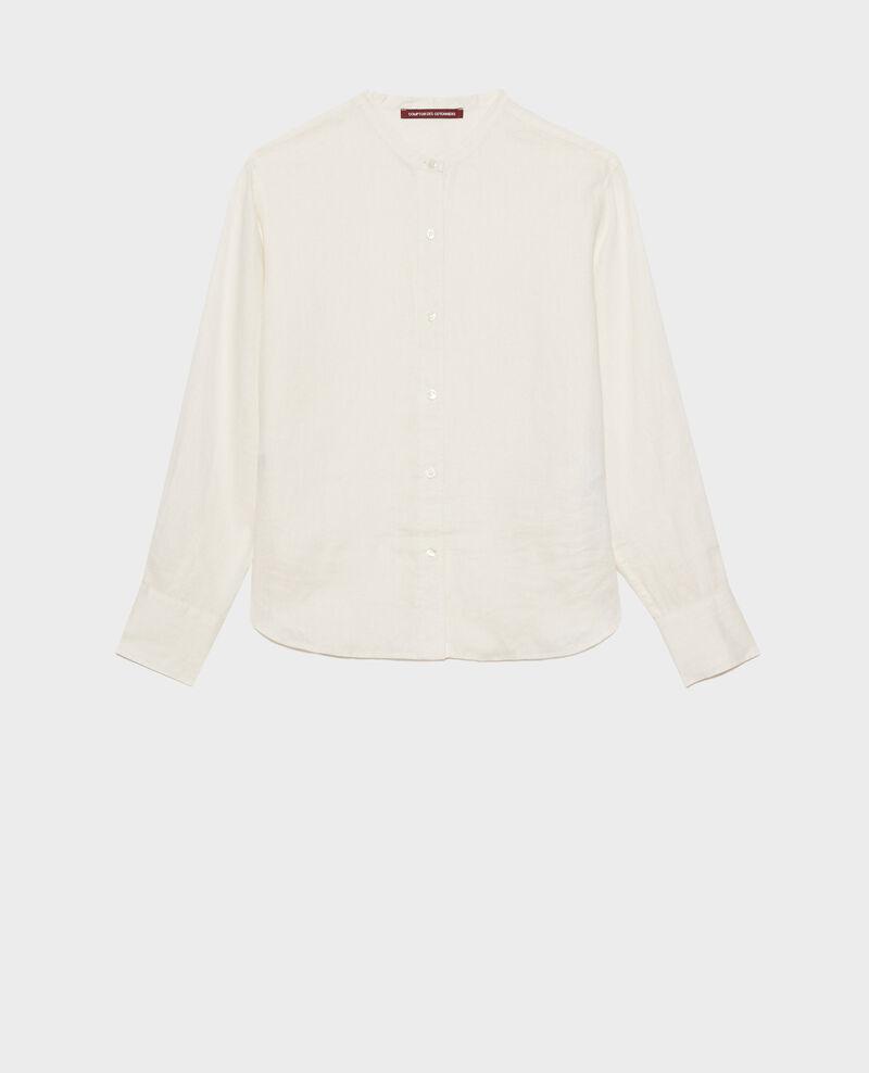 Collarless linen shirt Gardenia Nawak