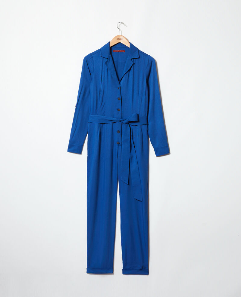 Shirt jumpsuit Imperial blue Ioasis