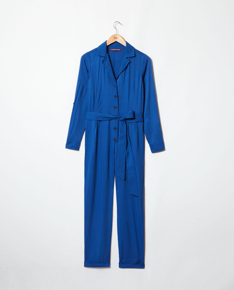 Shirt jumpsuit Imperial blue Ioasis