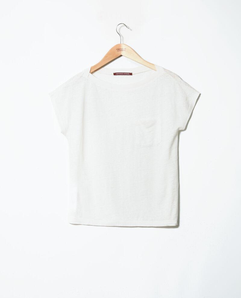 Boatneck t-shirt Off white Jinolita