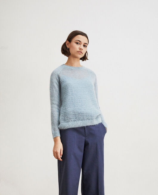Novelty knit jumper  BLUE MIRAGE
