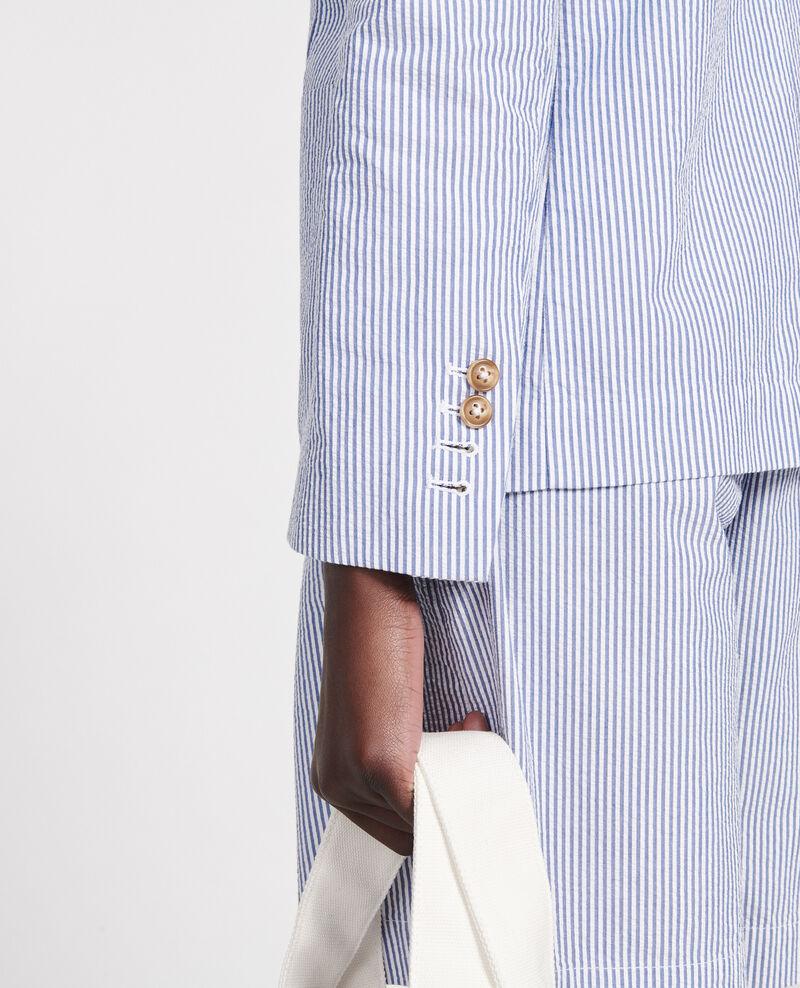 Cotton blazer Seersucker stripes Lacaure