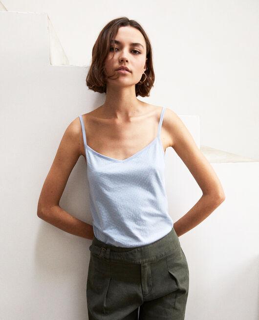 Vest top with spaghetti straps LIGHT BLUE