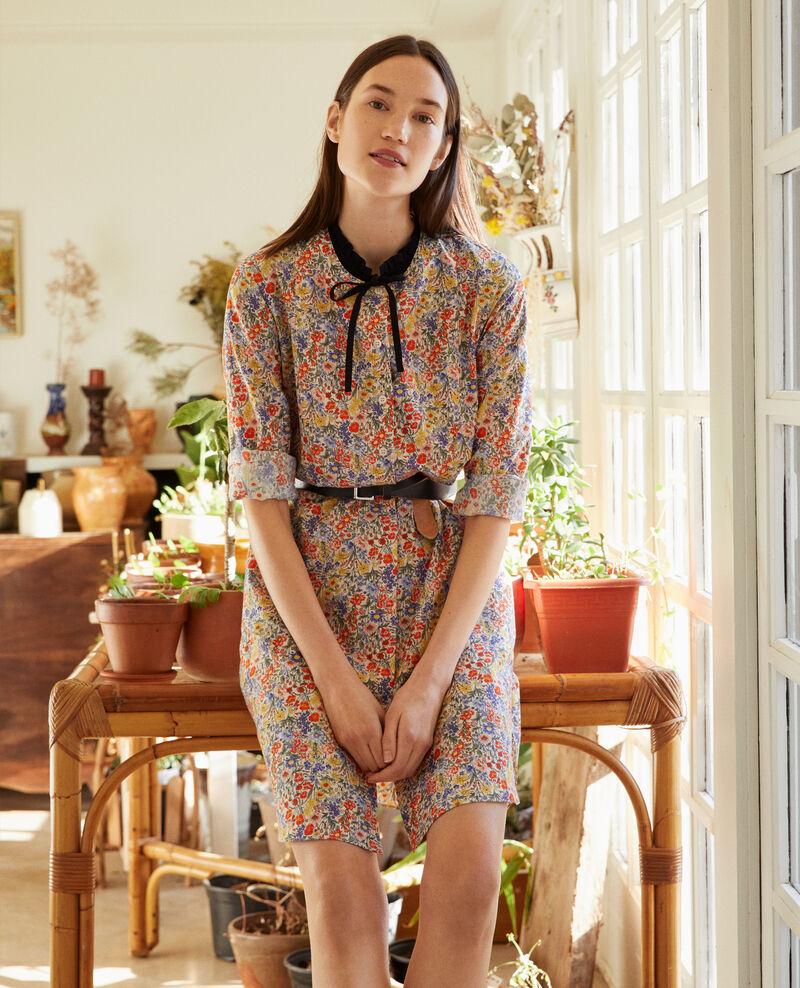 Cotton and silk shirt dress Prairie gardenia Nyonsaise