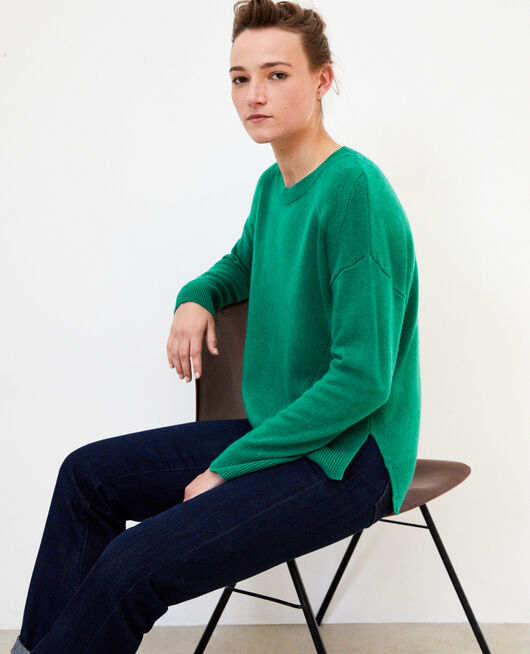 Cashmere jumper ULTRA GREEN