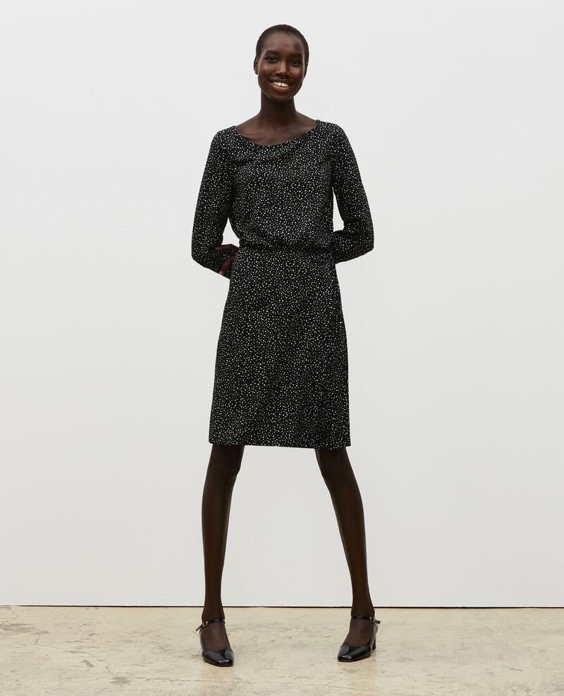 Wrapover mini dress Print constellation black Meussia