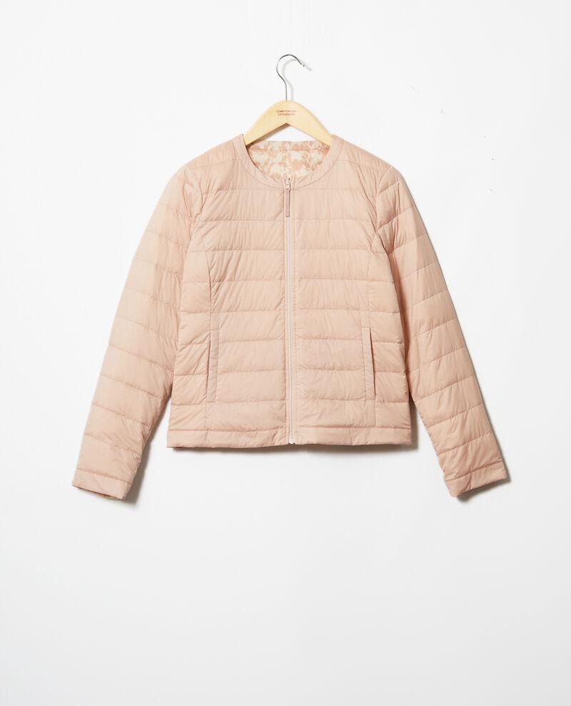 Mademoiselle Plume down jacket  Ikat pink beige Illopa
