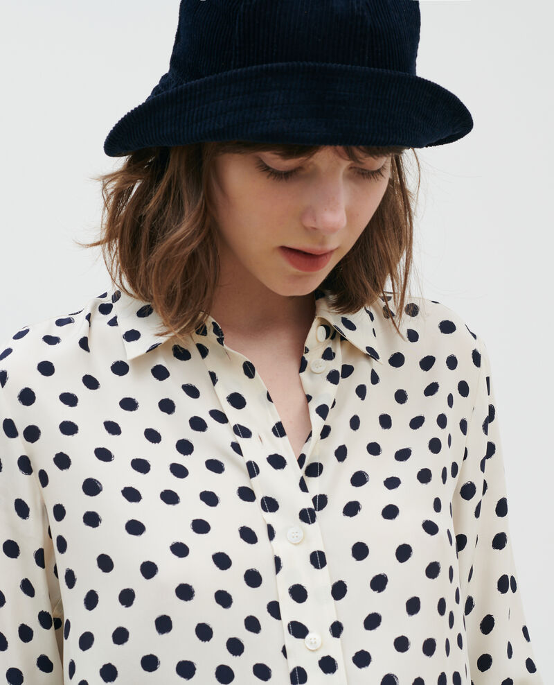 SIBYLLE - Printed silk shirt Maxidot ecru Nabilo