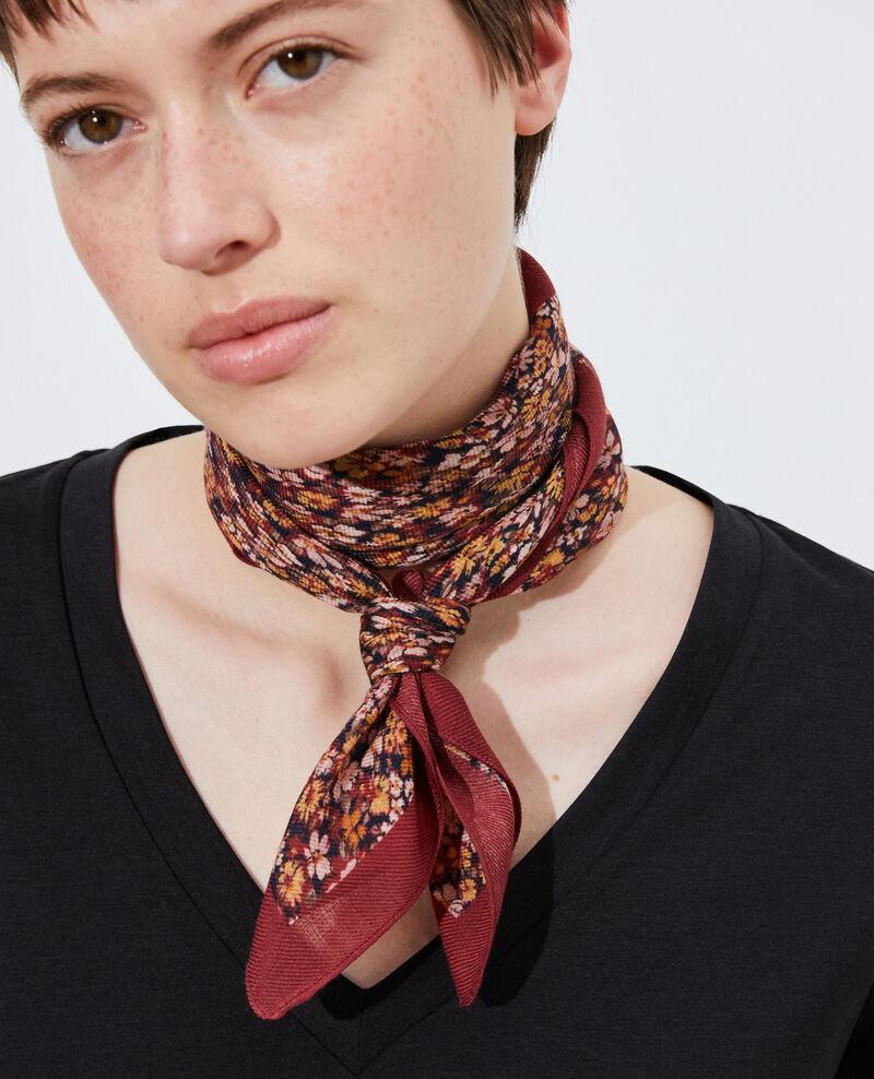 Printed wool scarf Cabernet Piberty