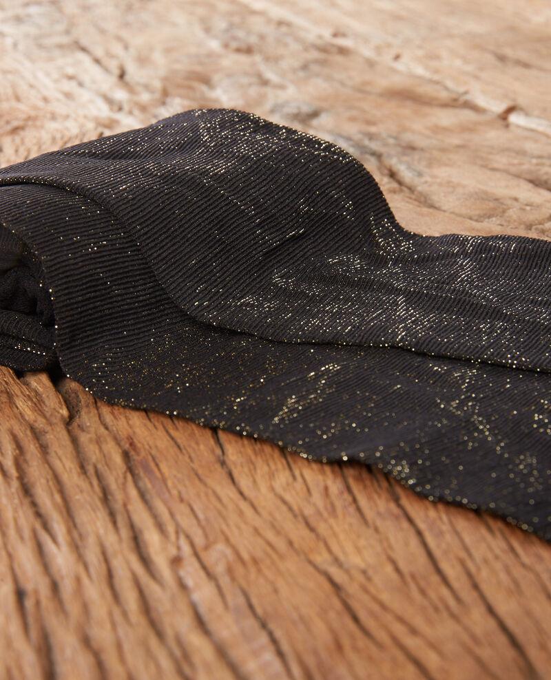 Shimmering tights Noir/gold Deng