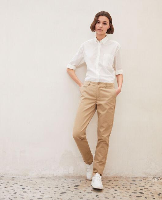 Canvas trousers SAFARI BEIGE