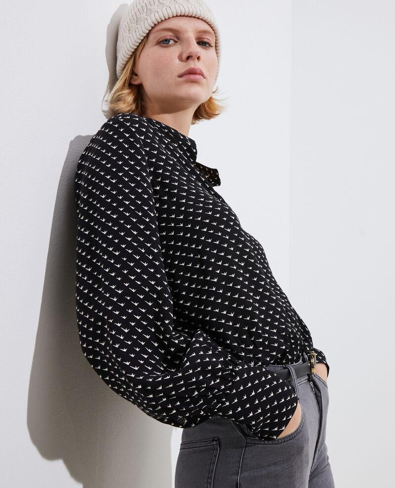 Printed blouse Birdy black Parare