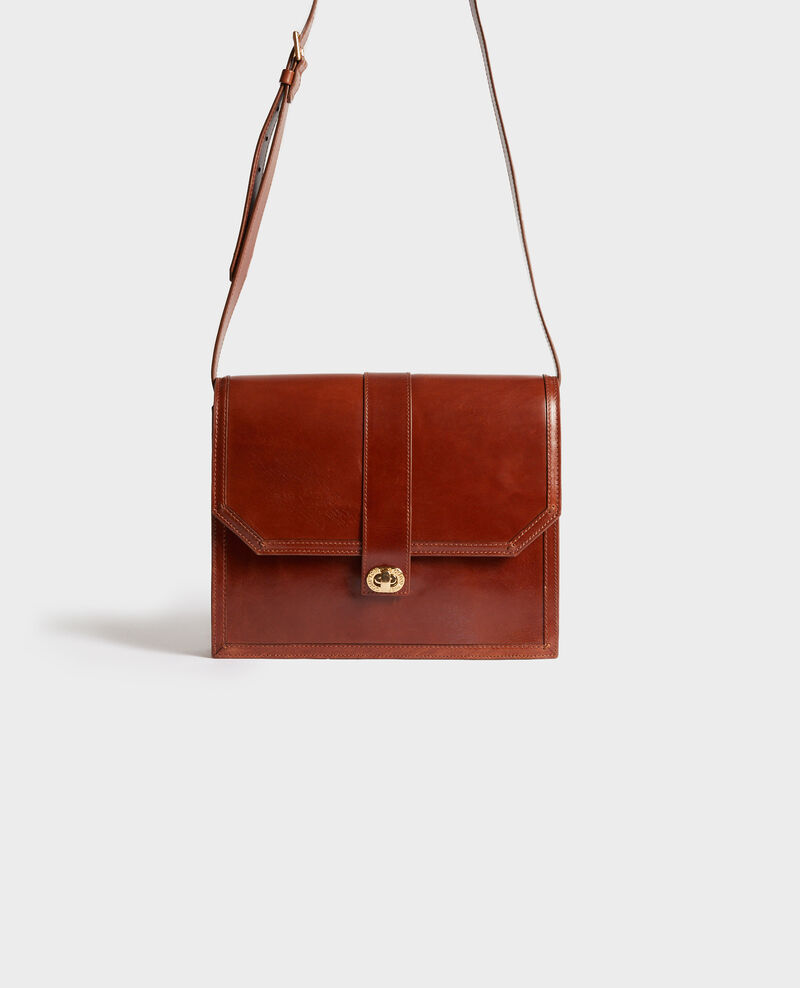 Vintage-style leather bag Pumpkin spice Neuillys