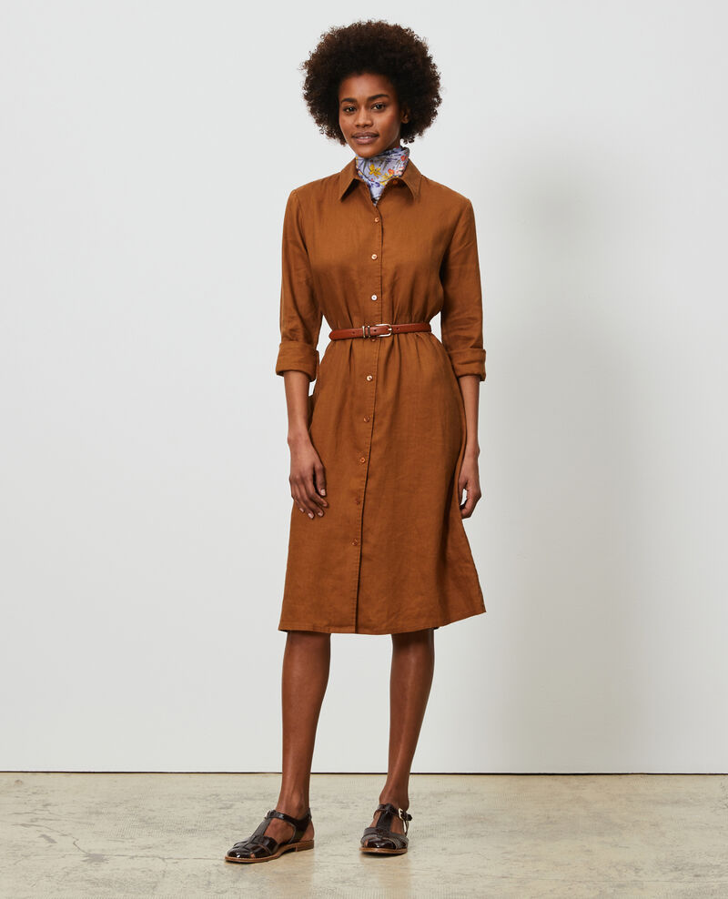 Linen shirt dress Monks robe Lesprit