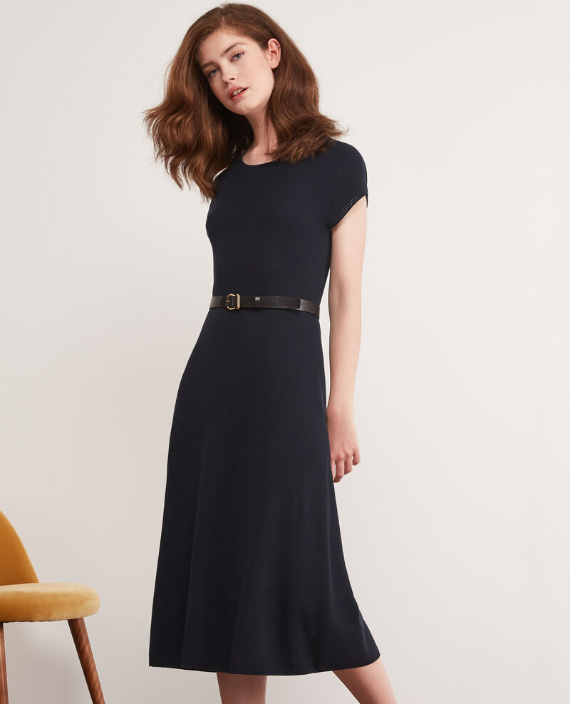 Seamless knitted dress Navy Dema