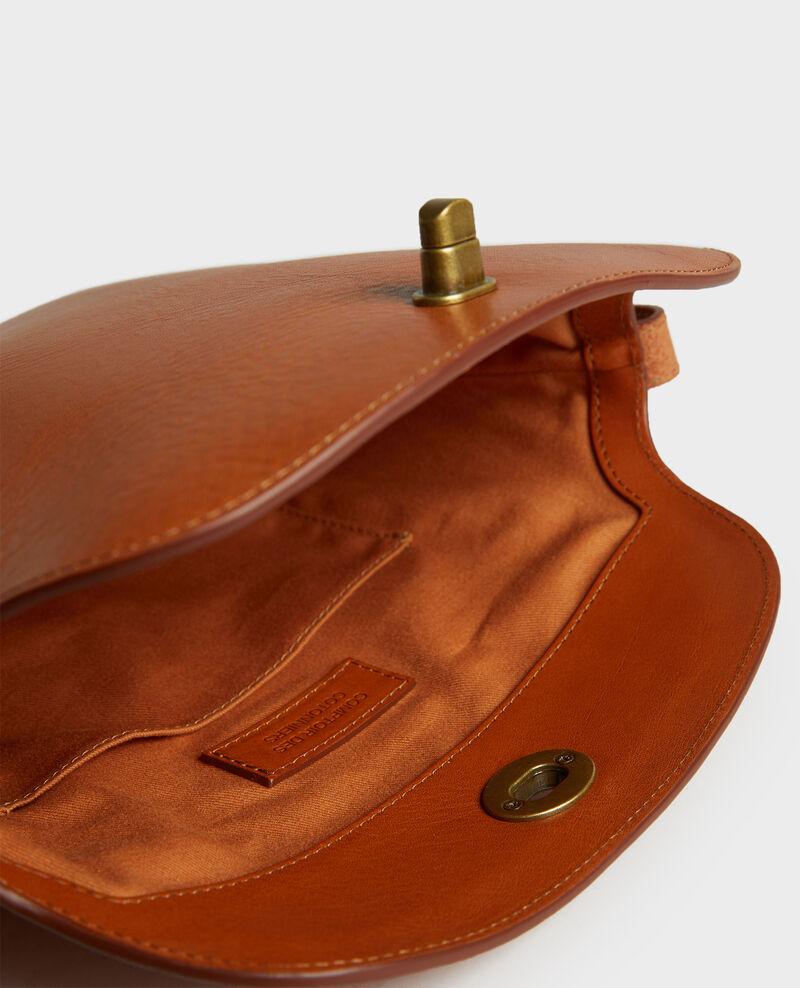 Leather handbag with short shoulder strap Camel Lidylle
