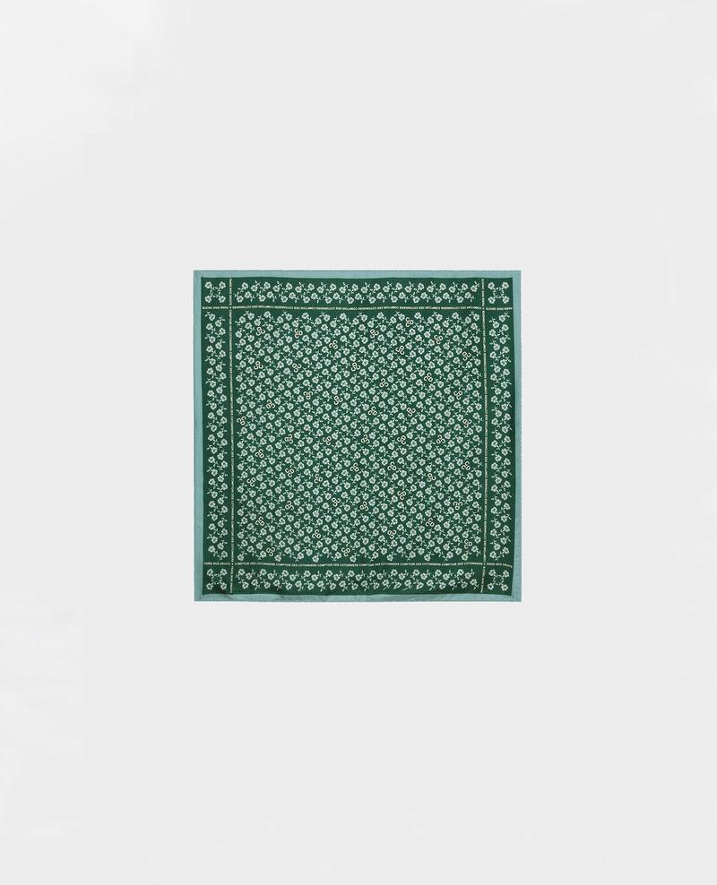 Square silk scarf Rain forest Mediteranee