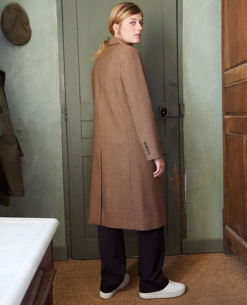 Mid-length coat Houndtooth Jita