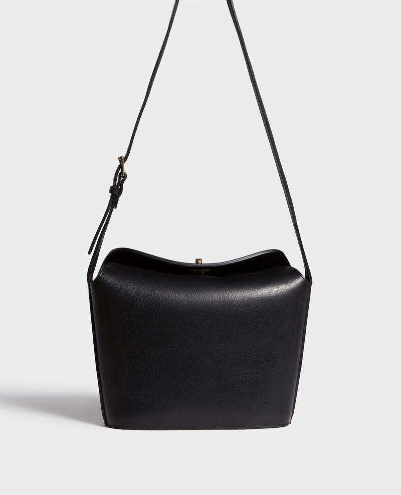 Grained leather bag Black beauty Lidylle