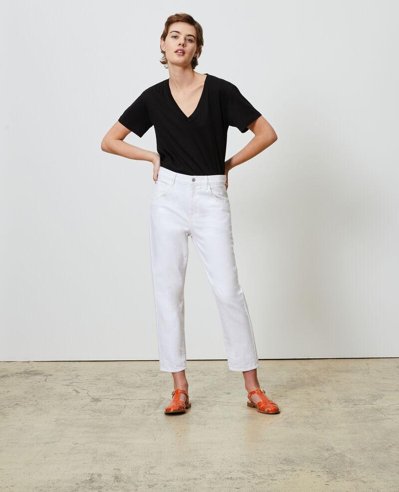 TOMBOY - Loose, mid-rise 5-pocket jeans Winter white Meroni