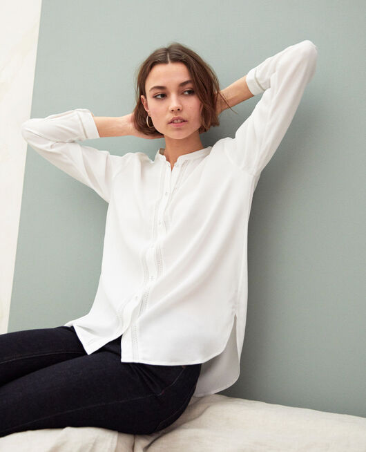 Straight-cut tunic Blanc