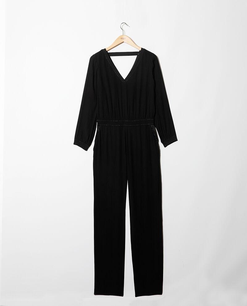 Lurex blend jumpsuit Black Gonaco