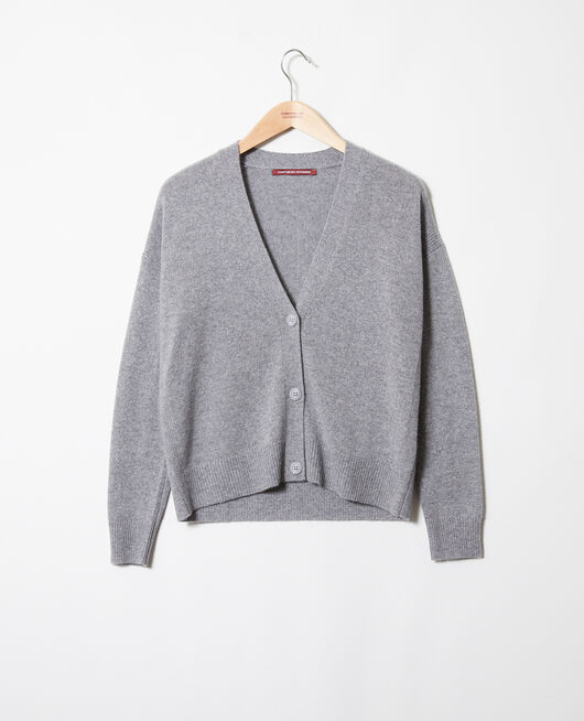 Cashmere cardigan LIGHT GREY