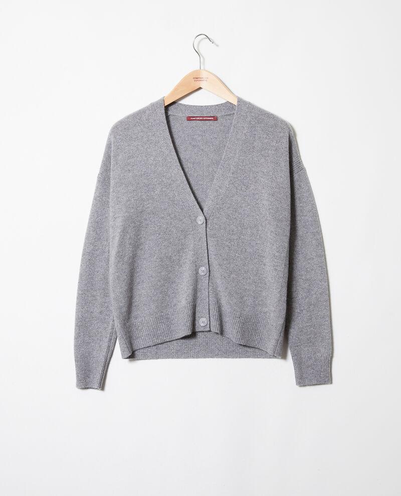 100% Cashmere cardigan Light grey Josiah
