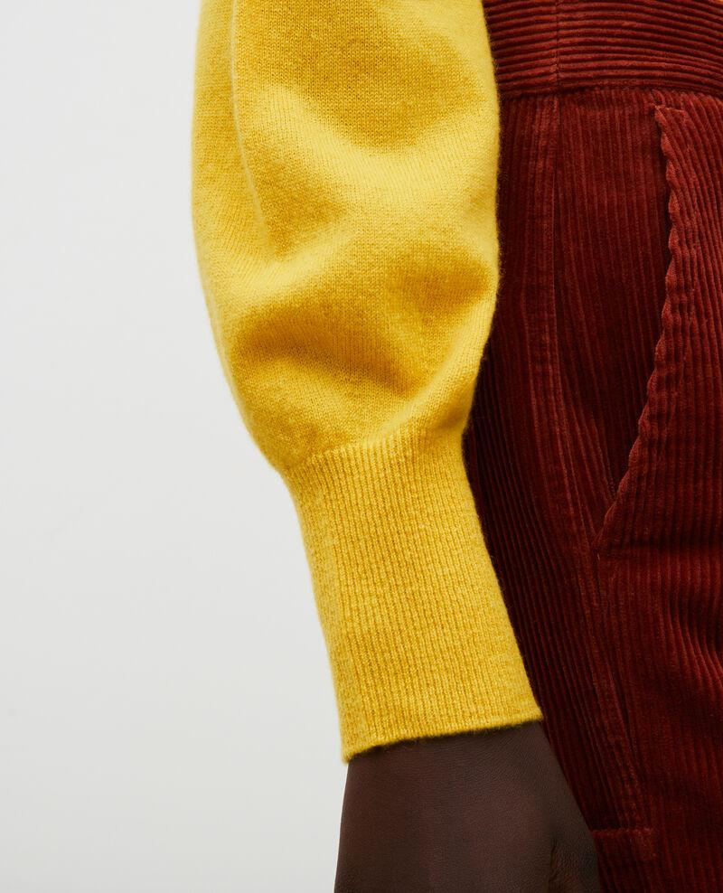 3D fine cashmere turtleneck jumper Lemon curry Mane