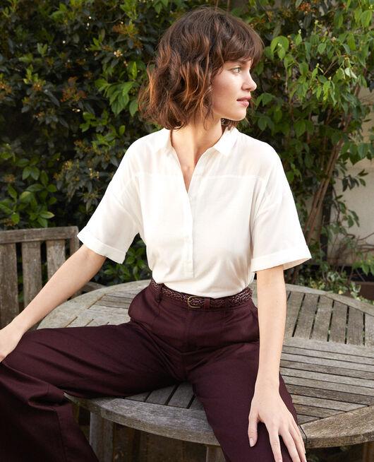 Bimaterial shirt White