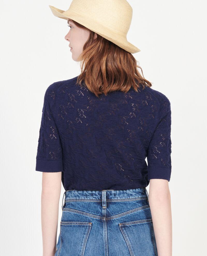 Rib knit t-shirt Maritime blue Lagos