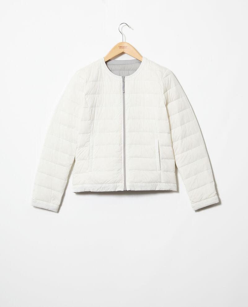Iconic Mademoiselle Plume down jacket Light grey/off white Illopou