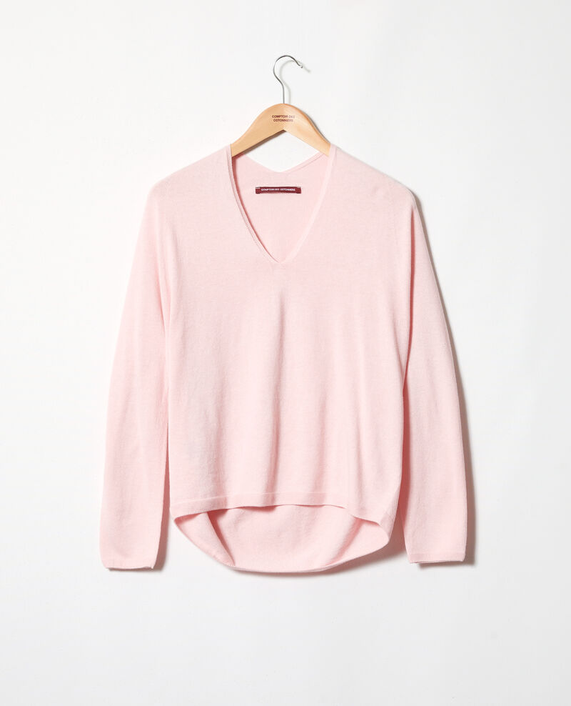 Cashmere blend jumper Pink icing Iopy
