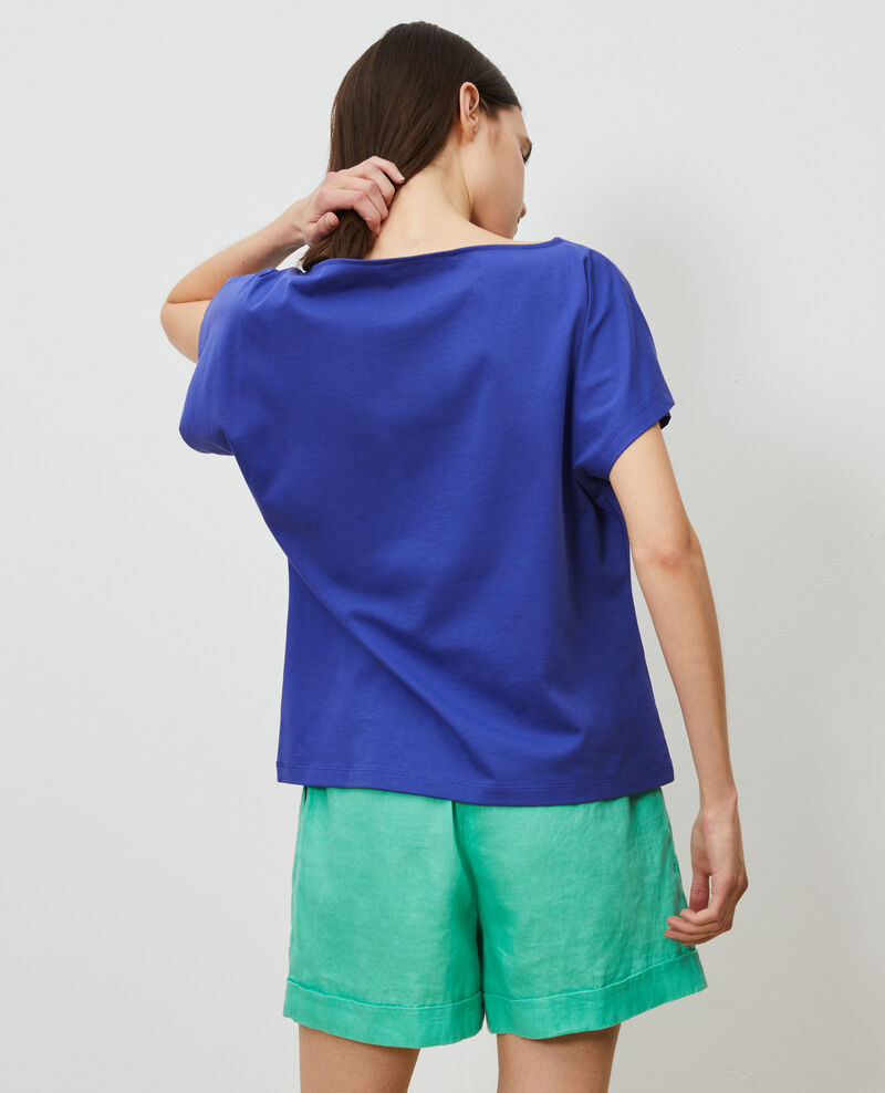 Short-sleeve cotton t-shirt Royal blue Marcelin