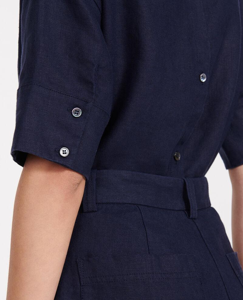 Linen blouse Maritime blue Lordat