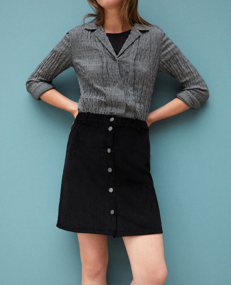 Ribbed corduroy skirt Black 9gammon