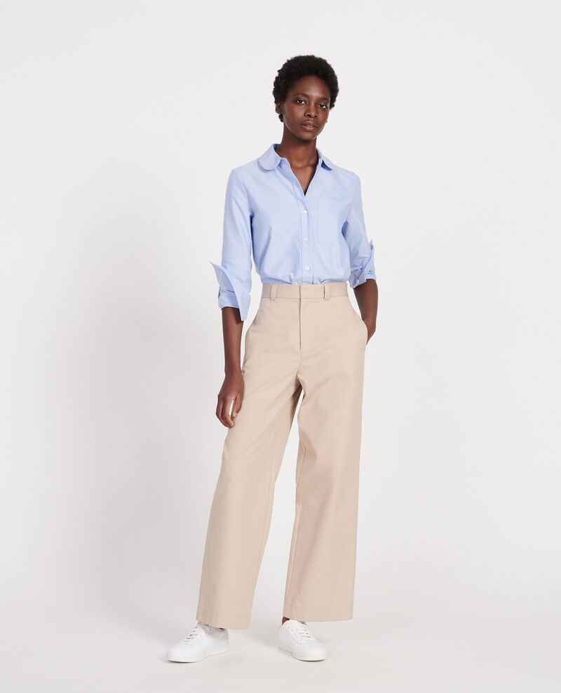 Cotton boyfriend trousers Oxford tan Lodrey