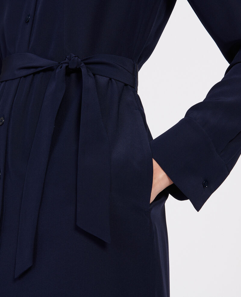 Loose midi dress Maritime blue Lolita