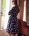 Printed shirt dress Tulip evening blue Jaradja