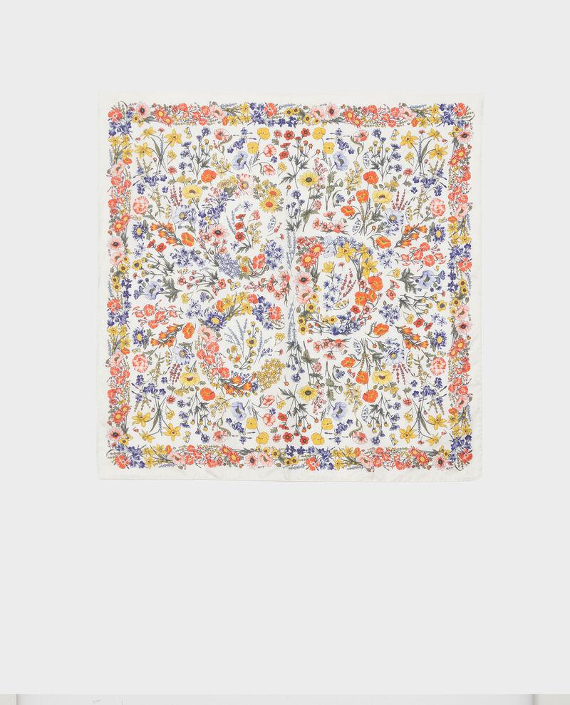 Square silk scarf Gardenia Nabis