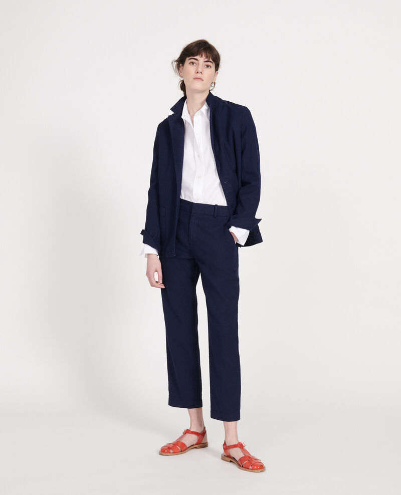 Linen blazer Maritime blue Lalbere