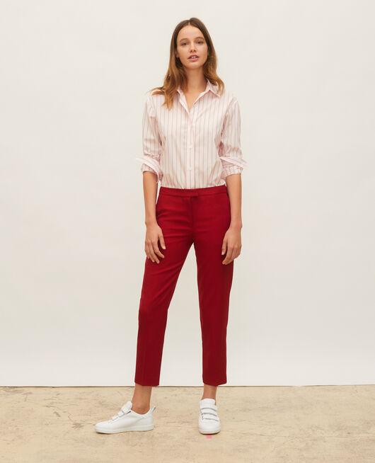 Cotton boyfriend shirt POPELINE STRIPE3