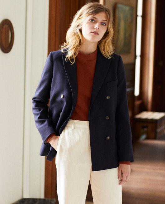 Wool blend blazer DARK NAVY