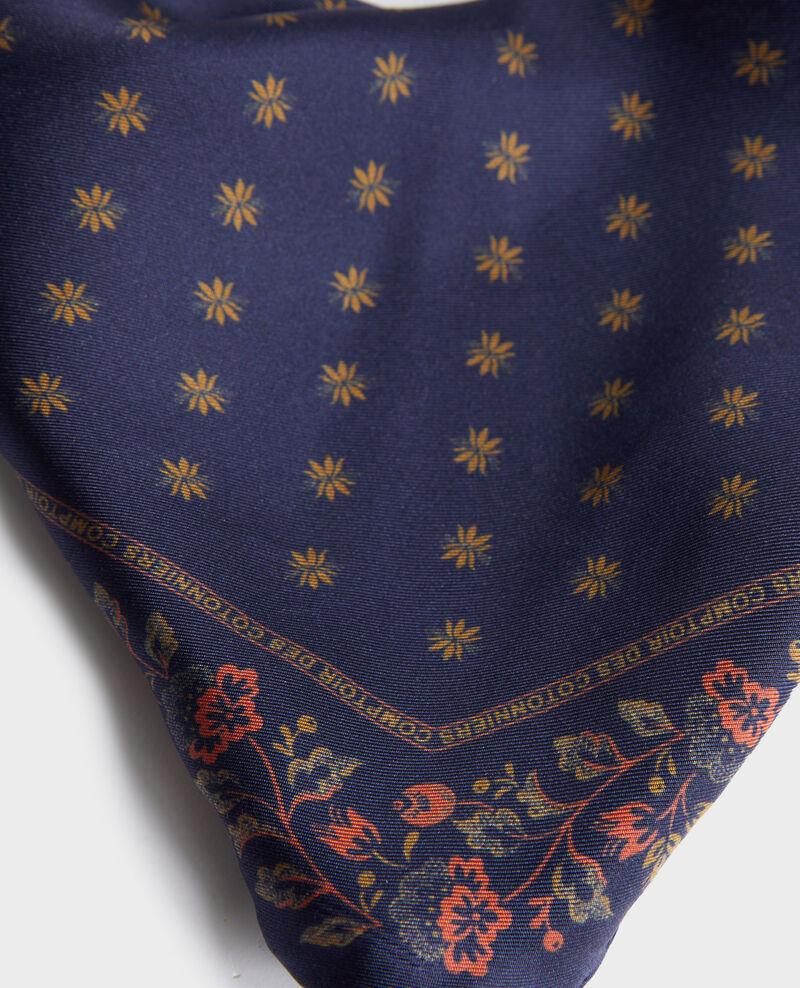 Diamond-shape silk foulard Night sky Nandana