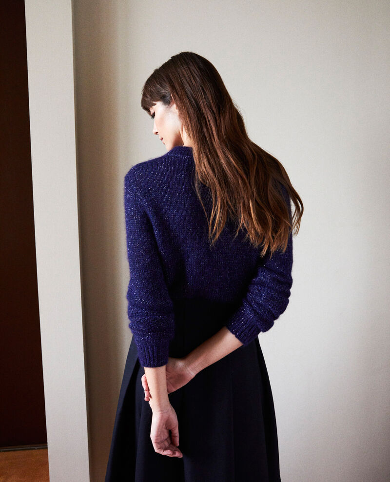 Novelty knit jumper Evening blue Jaheim