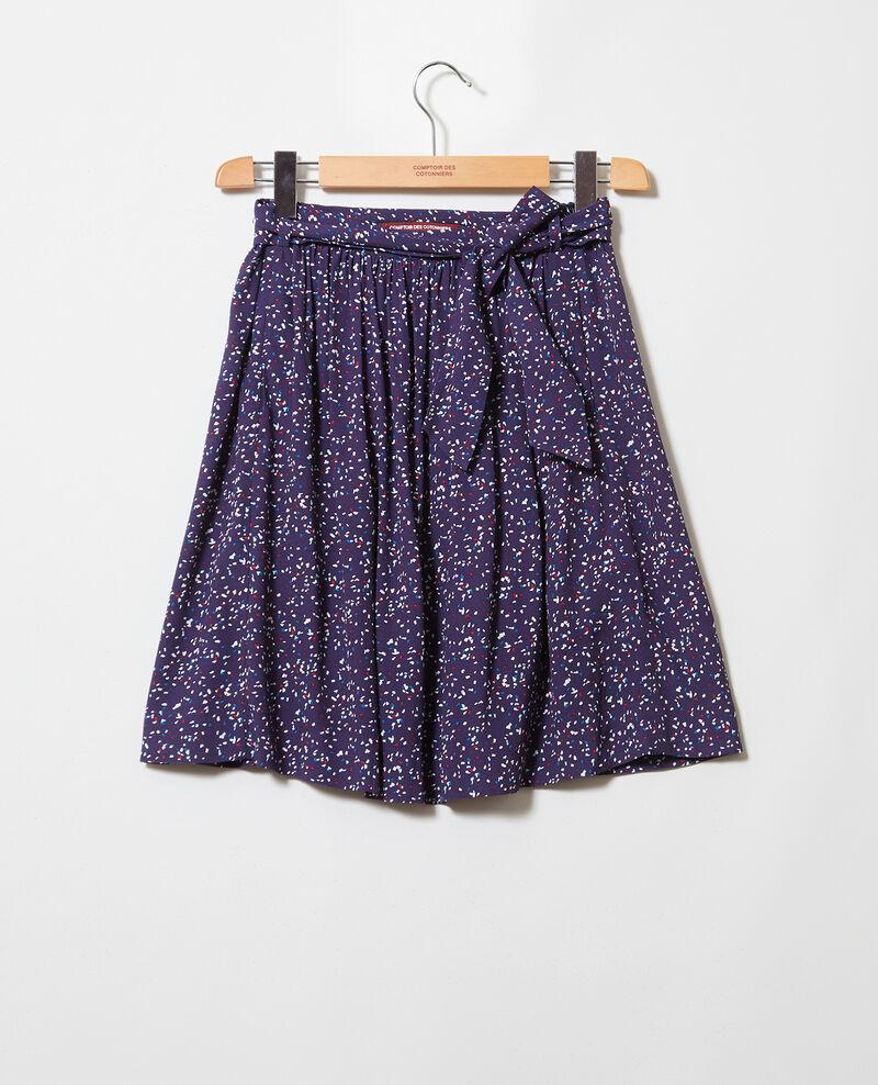 Skater skirt Confetti ink navy Ikeni