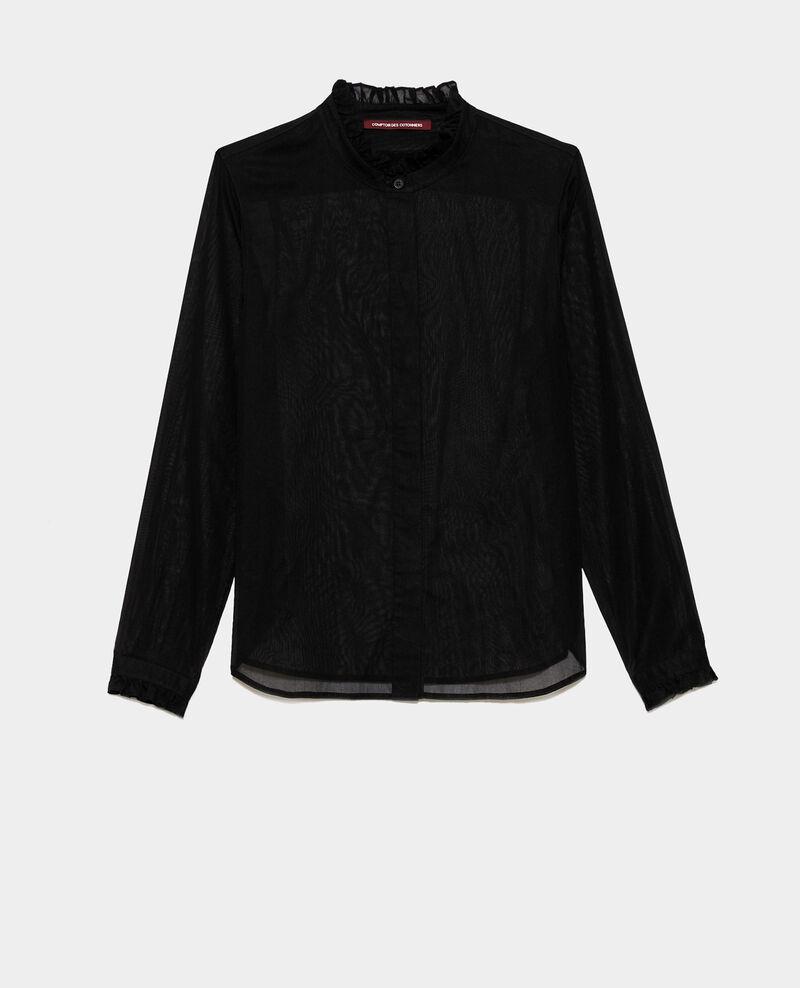 Ruffle neck shirt Black beauty Nacelle