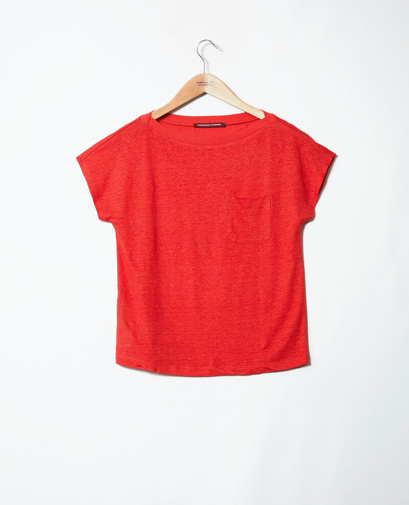 Boatneck t-shirt Molten lava Jinolita