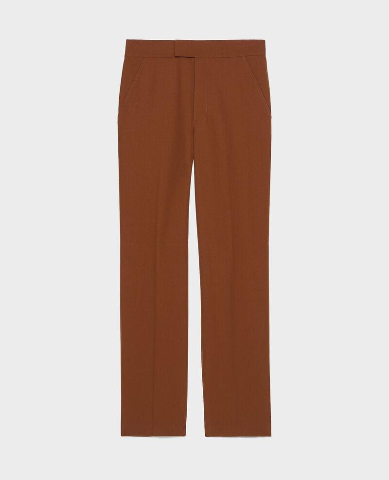 Straight wool boyfriend trousers MARCELLE Monks robe Lisabelle